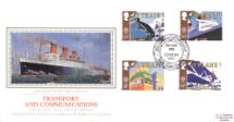 10.05.1988 Transport The Queen Mary Pres. Philatelic Services, Sotheby Silk No.40