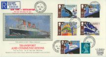 10.05.1988 Transport Queen Mary Pres. Philatelic Services, Sotheby Silk No.40