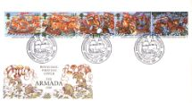 19.07.1988 Spanish Armada Special Handstamps Royal Mail/Post Office