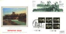 02.10.1989 Vending: New Design: £1 Mills 1 (Wicken Fen) Windsor from the Thames Pres. Philatelic Services