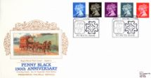 10.01.1990 Penny Black Anniversary Royal Parcel Post Coach Pres. Philatelic Services, Cigarette Card No.19