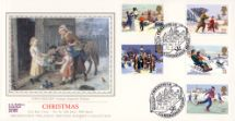 13.11.1990 Christmas 1990 Firm Friends Pres. Philatelic Services, Sotheby Silk No.65
