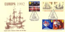 07.04.1992 Europa 1992 Captain Cook's Endeavour Salutes the Tall Ships Stan Muscroft