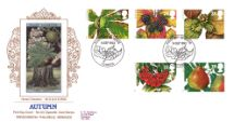 14.09.1993 4 Seasons: Autumn Horse Chestnut Pres. Philatelic Services, Cigarette Card No.53
