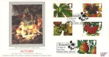 14.09.1993 4 Seasons: Autumn Still Life of Fruit Pres. Philatelic Services, Sotheby Silk No.89