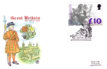 02.03.1993 Britannia: £10 Beefeater at the Tower of London Stuart