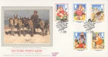12.04.1994 Picture Postcards The Donkey Driver Pres. Philatelic Services, Sotheby Silk No.94