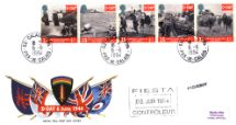 06.06.1994 D-Day 50th Anniversary Flags of UK Forces plus SHAEF crest Royal Mail/Post Office