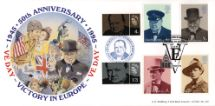 02.05.1995 Peace and Freedom London Celebrates Churchill stamps Bradbury, LFDC No.132