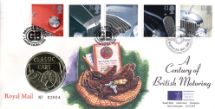 01.10.1996 Classic Cars Medal Cover Royal Mint, Royal Mint/Royal Mail joint issue No.9