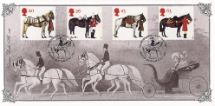 08.07.1997 All the Queen's Horses Victoria in Carriage Bradbury, Victorian Print No.113