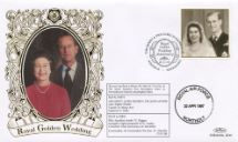 13.11.1997 Golden Wedding The Queen & Prince Philip Benham, 1997 Small Silk No.35