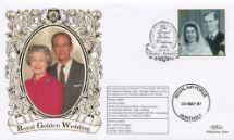 13.11.1997 Golden Wedding The Queen & Prince Philip Benham, 1997 Small Silk No.37