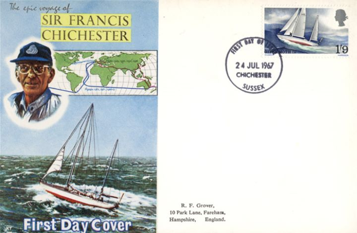 Sir Francis Chichester, Gypsy Moth & Route
