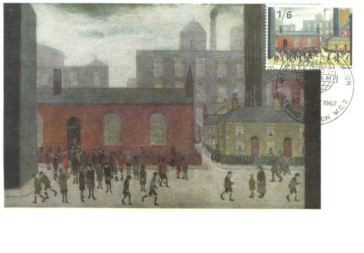 Paintings, Coming out of School by Lowry