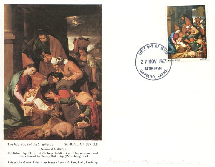 Christmas 1967 (3d & 1/6d), Adoration of the Shepherds