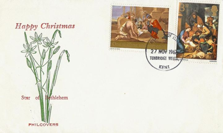 Christmas 1967 (3d & 1/6d), Star of Bethlehem