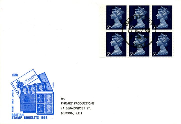 Stitched: New Design: 5s Eng. Homes 1 (Ightham Mote), British Stamp Booklets