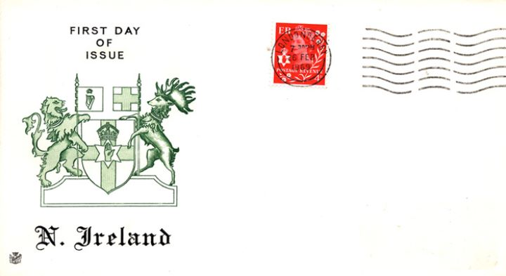 Northern Ireland 4d Red, Coat of Arms