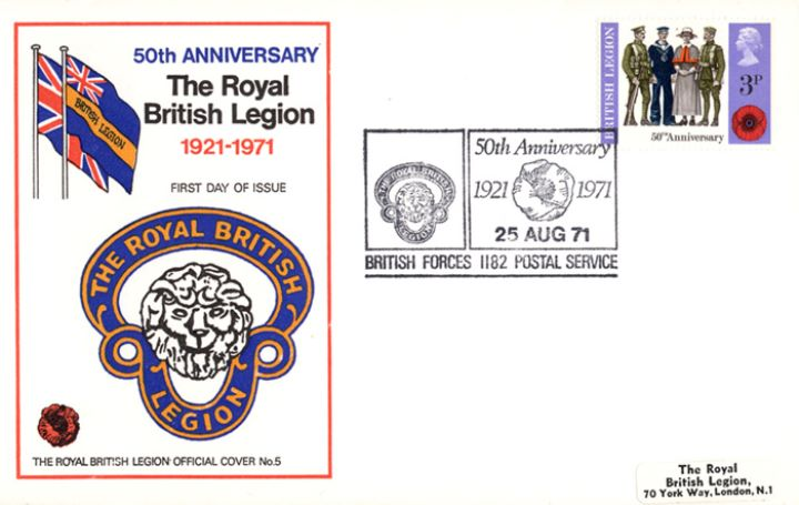 General Anniversaries 1971, Royal British Legion