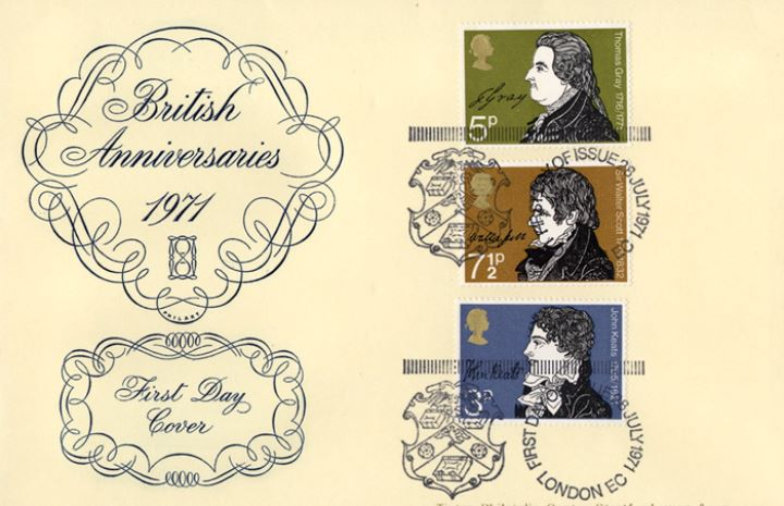 Literary Anniversaries 1971, British Anniversaries