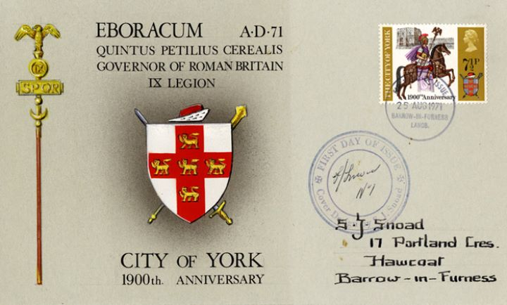 General Anniversaries 1971, Arms of the City of York