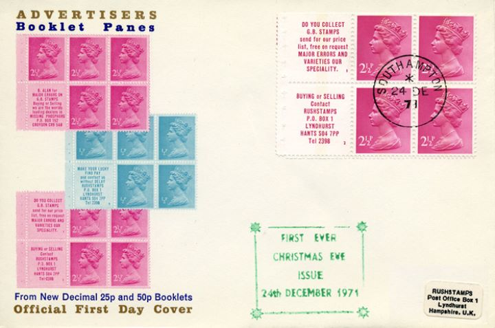 Stitched: New Design: 25p Transport 4 (Mail Van), Christmas Eve Booklet 1(b)