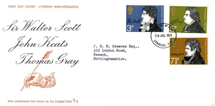 Literary Anniversaries 1971, Hand and Quill