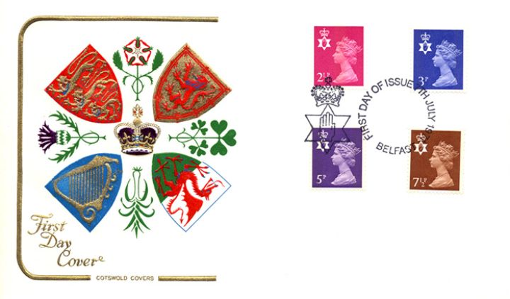 Northern Ireland 2 1/2p, 3p, 5p, 7 1/2p, Regional Coats of Arms & Emblems