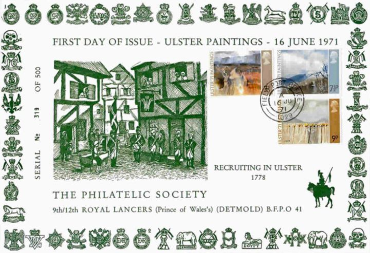 Ulster '71 Paintings, Regimental Badges