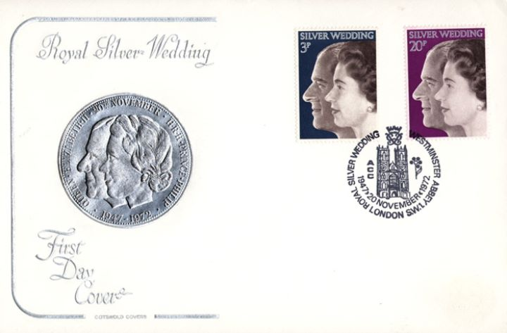Silver Wedding 1972, Medal design