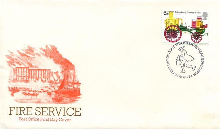 Fire Engines, 5.5p Non-Phosphor on FDC