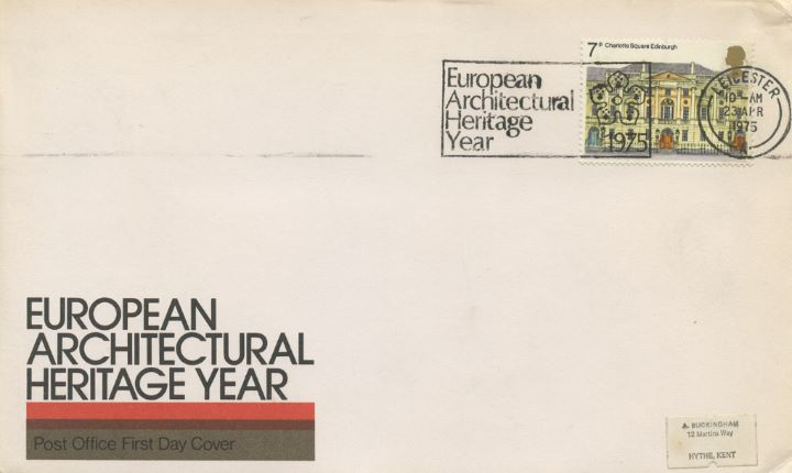 European Architectural Heritage Year, Leicester Slogan Postmark