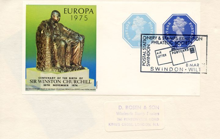 Winston Churchill, Postal Stationery Exhibition