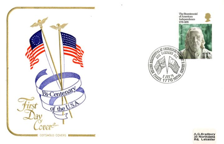 USA Bicentenary: 11p, American Flags