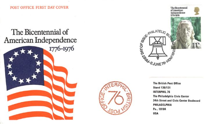 USA Bicentenary: 11p, Interphil 76