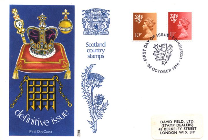 Scotland 10p & 11p, Coronation Regalia