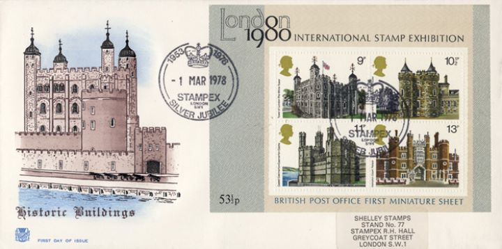 Historic Buildings: Miniature Sheet, Tower of London