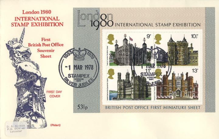 Historic Buildings: Miniature Sheet, Stamp Exhibition