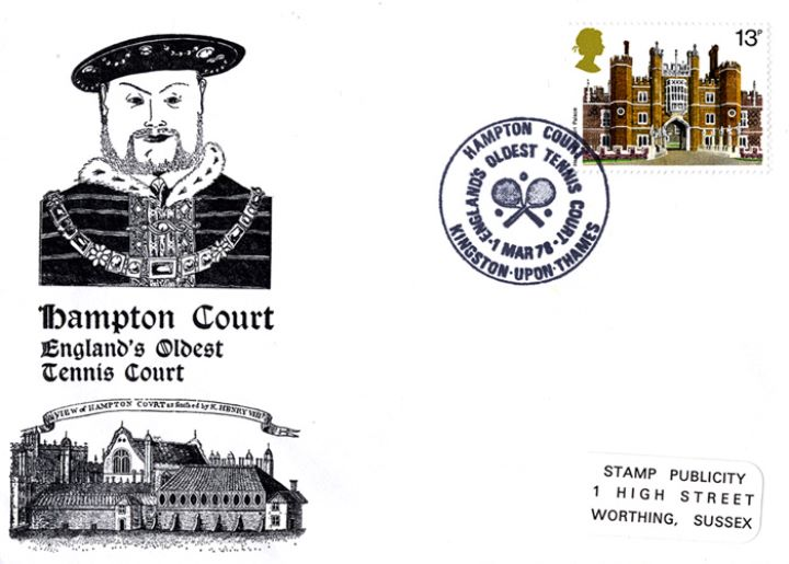Historic Buildings: Stamps, Hampton Court - England's Oldest Tennis Court