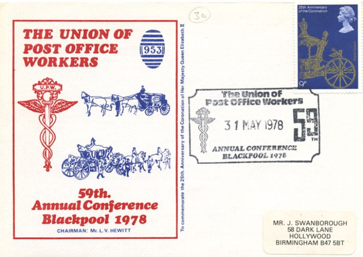 Coronation 25th Anniversary, Union of Post Office Workers