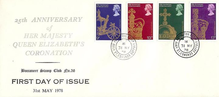 Coronation 25th Anniversary, Buccaneer Stamp Club