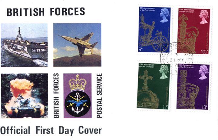 Coronation 25th Anniversary, British Forces Cover