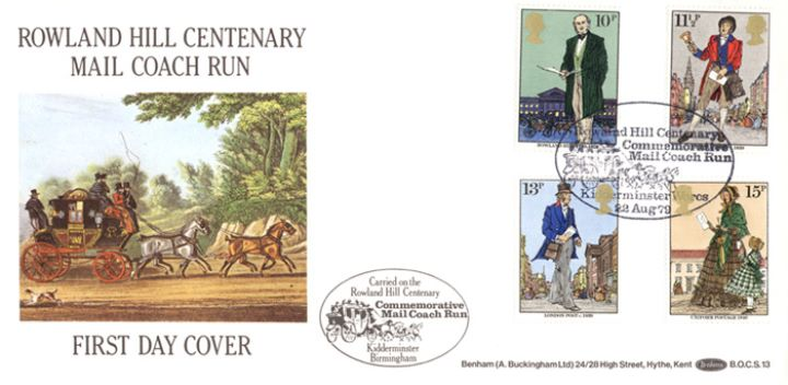 Rowland Hill: Stamps, Mailcoach