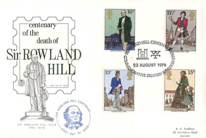 Rowland Hill: Stamps, Statue of Rowland Hill