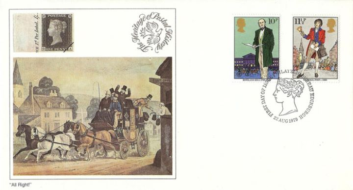 Rowland Hill: Stamps, Delivering the Mails