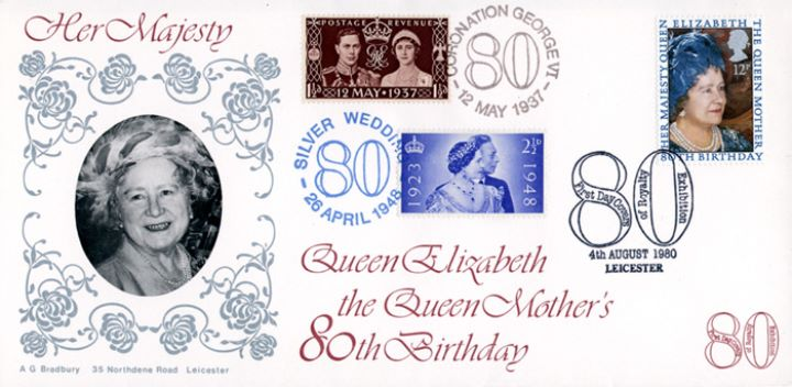 Queen Mother 80th Birthday, 1937 & 1948 Queen Mother stamps