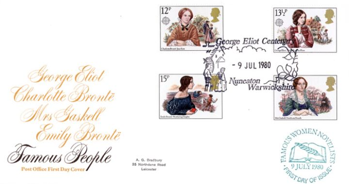 Famous Women Authors, Post Office special h/s covers