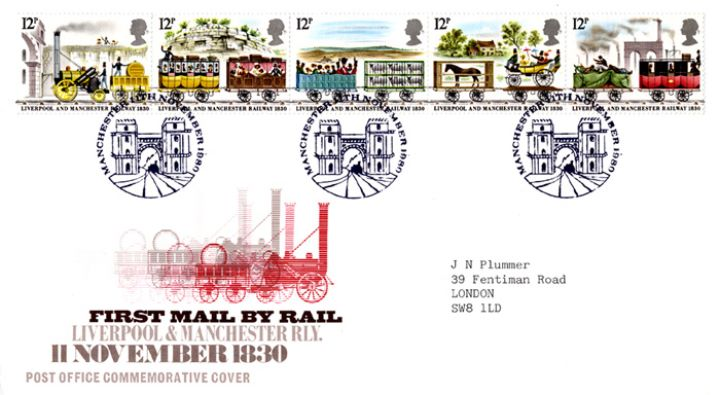 First Mail by Rail, Liverpool and Manchester Railway