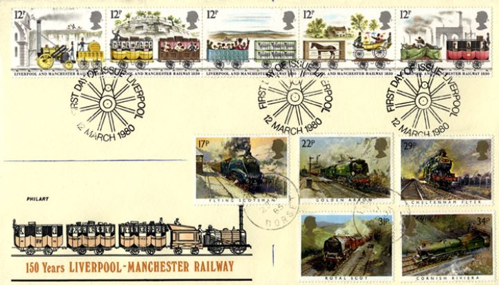 Liverpool & Manchester Rly, Two Train Sets on One Cover